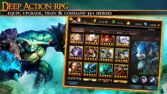 Eternal Arena bietet eine große Auswahl an sammelbaren Helden. (Bildquelle: iTunes / NetEase)