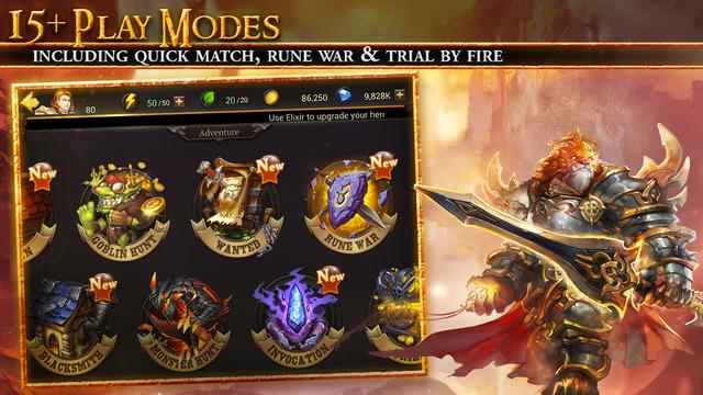 Auf den Spieler warten gleichere mehrere Modi. Im Kern bleibt Eternal Arena aber ein MOBA. (Bildquelle: iTunes / NetEase)