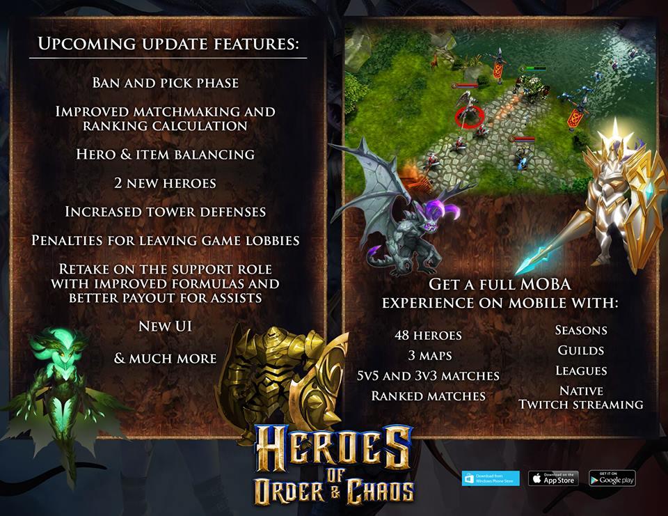 Heroes of Order & Chaos Update Plan