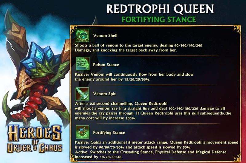 Redtrophi Queen Skills