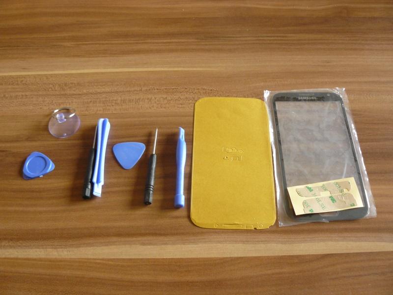 Reparatur-Kit ausgepackt