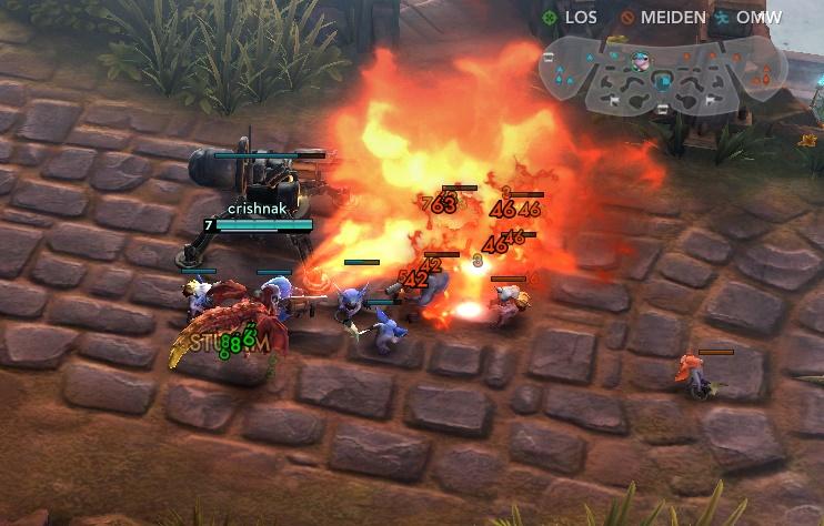 Skaarf macht den Gegnern mit Dragon Breath die Hölle heiß. (Quelle: Screenshot)