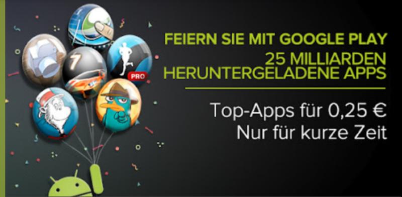 25-Cent-Rabatt-Aktion im Play Store